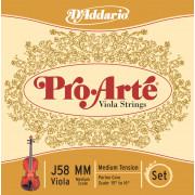 J58-MM PROARTE Комплект струн для альта D`Addario