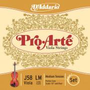 J58-LM Pro-Arte Комплект струн для альта большого размера, среднее натяжение, D'Addario