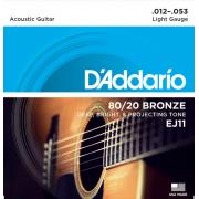 Струны D'Addario 80/20 Bronze Acoustic 12-53 (EJ11)