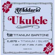 EJ87B Titanium Комплект струн для укулеле баритон, D'Addario
