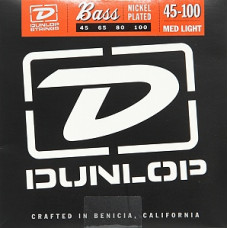 Струны Dunlop Nickel-Plated Steel Medium Light Bass 45-100 (DBN45100)