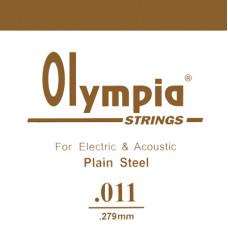 Струна Olympia для гитары 011, сталь (SA011)