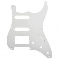 Панель (pickguard) Hosco для стратокастера H-S-S, однослойная, белая (SC-W1P-3)